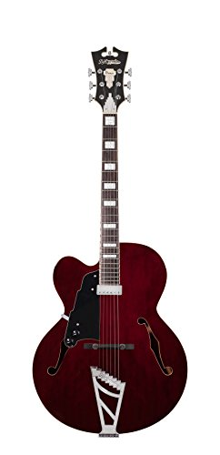 D'Angelico Premier EXL-1 Hollow-Body Lefty Electric Guitar w/ Stairstep Tailpiece – Trans Wine