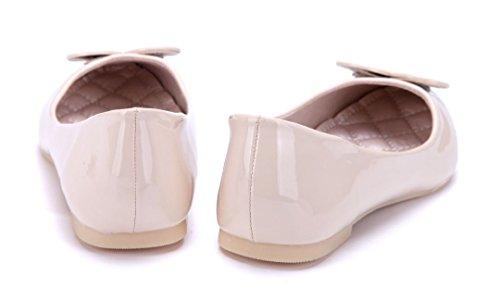 Schuhtempel24 Damen Schuhe Klassische Ballerinas Beige Flach pggYaXm