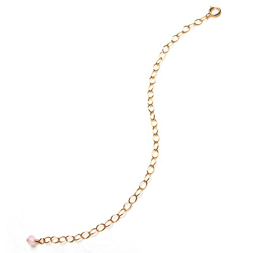 BENIQUE Necklace Bracelet Extenders for Women - 14K Gold Filled, Rose Gold Filled, Fully Adjustable Chain, Strong Delicate, Made in USA (Dainty 6