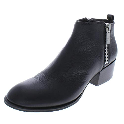 - Kenneth Cole New York Women's 7 Addy Low Bootie with Double Zip Sides Ankle Boot Black 10 Medium US