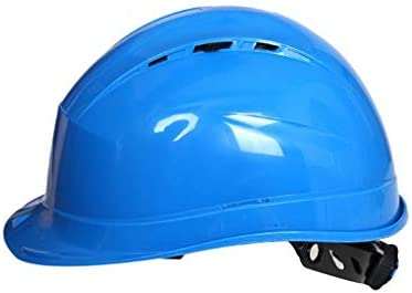 LCSHAN 高力ABSヘルメット工学ヘルメットは建築現場を導きます (Color : Blue)