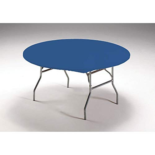 (Creative Converting Round Stay Put Plastic Table Cover, 60-Inch, Royal Blue, 12)