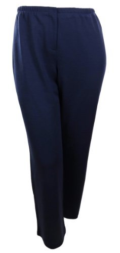 Sutton Studio Womens Zipper Front Ponte Trouser Pants Plus Navy)