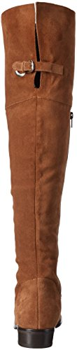 Vero Moda Vmmille Leather Overknee Boot, Botines para Mujer Beige - Beige (Adobe)
