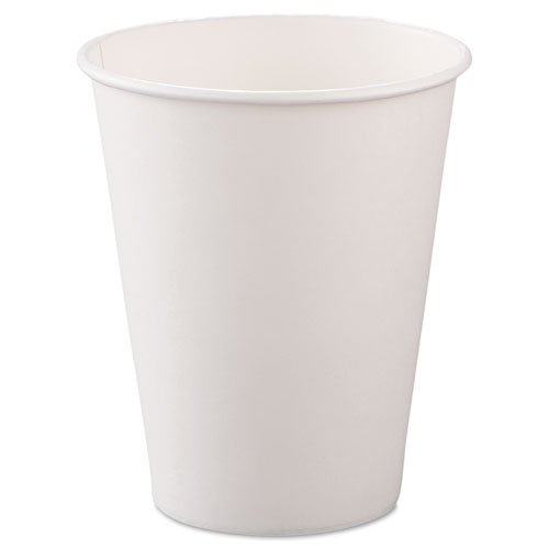 SOLO Cup Company Polycoated Hot Paper Cups, 8 oz., White, 50/Bag - Includes 20 packs of 50 each.
