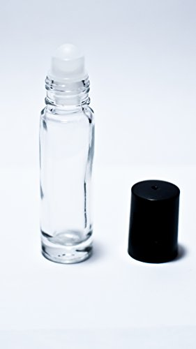 5 1/3 Oz. Clear Glass Roll-on Bottles