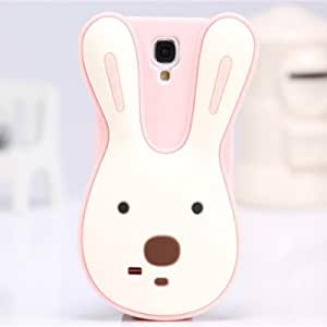 Noarks « 3D Rabbit Rubber Silicone Case Cover Stand for Samsung Galaxy S4 I9500 (Pink/White)
