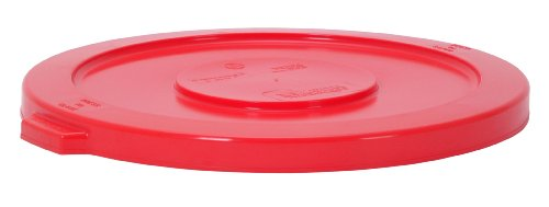 Continental 3201RD 32-Gallon Huskee LLDPE Waste Lid, Round, Red Continental Round Huskee Container