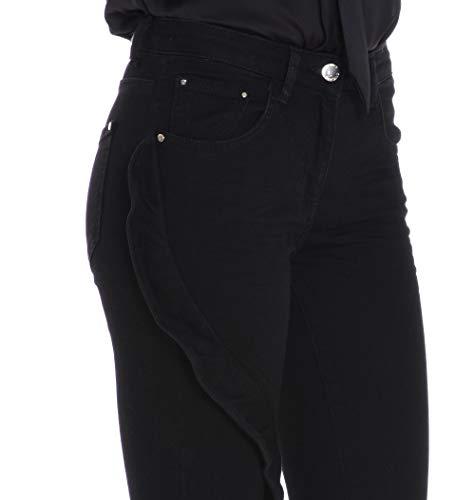 Negro Mujer Algodon Mangano Jeans Pmng002790001 zqBxY