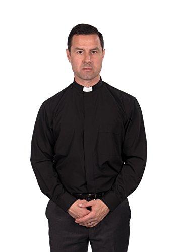 Mens-Clergy-Shirt-Tab-Collar-Long-Sleeve