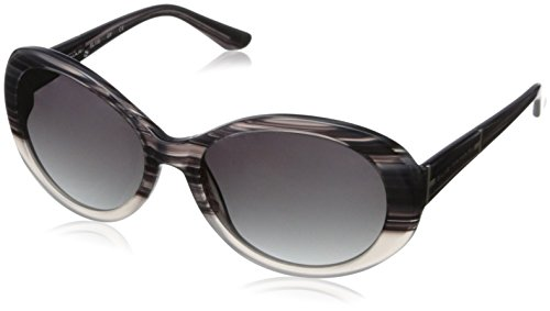 Elie Tahari Women's EL115 Oval Sunglasses, Grey Horn, 57 - Tahari Sunglasses Elie
