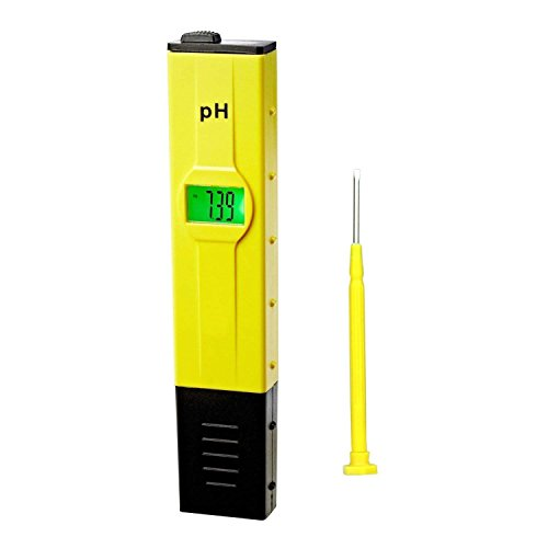Dr.Meter 0.01pH High Accuracy Pocket Size pH Meter with ATC Backlit 0-14 pH Measurement Range by Dr.meter