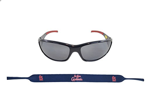 (Siskiyou Sports Inc Official Major League Baseball Fan Shop Authentic Sunglasses and Neoprene MLB Team Strap. Enjoy tailgating and the Game in the Sun with cool specs (St. Louis Cardinals))