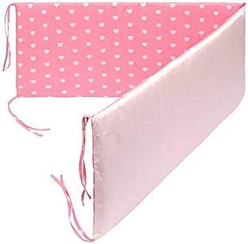 3pcs//Set BATTILO HOME Cotton Breathable Crib Bumper Pads Washable Padded Crib Liner Set for Baby Boys Girls Safe Bumper Guards Crib Rail Padding