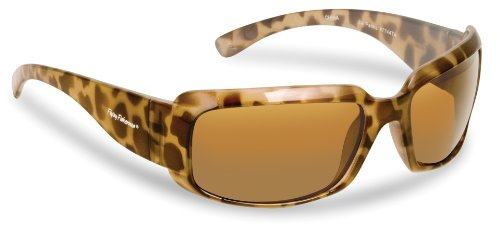 Flying Fisherman 7744TA La Palma Polarized Sunglasses, Tortoise-Ivory Frame, Amber Lens (Best Lens Color For Fishing)