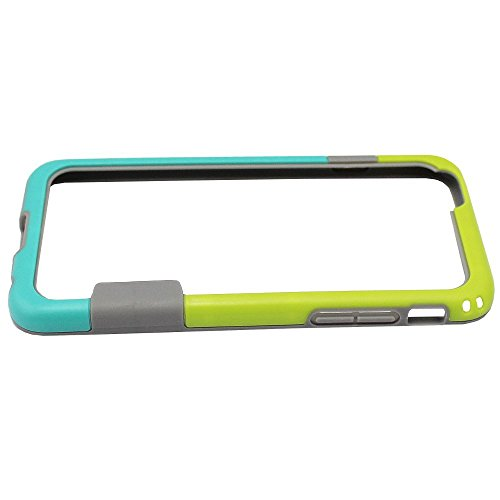 Colorfone PREMIUM Bumper Fit1 / Coque / Case / Cas / Pare-chocs / Housse / Etui / Protection / Anti choc pour Apple iPhone 6 Turquoise + Vert