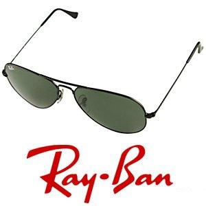 Ray-Ban RB3025 Aviator Sunglasses Black/G-15 XLT