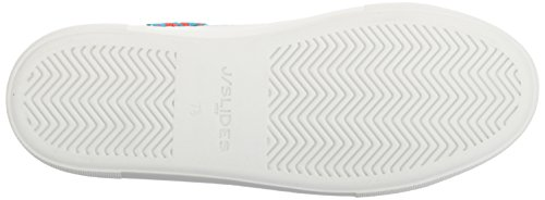 J Slides Jslides Dames Aprie Fashion Sneaker, Grijs, 7.5 Us / Us Size Conversion M Us White
