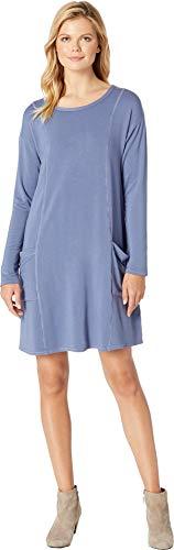 Blueprint Jersey - Mod-O-Doc Women's Rayon Spandex Fleece Seamed Sweatshirt Dress with Pockets Blueprint Medium