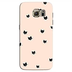 Cover It Up - Cat Whiskers Stickers Galaxy S7 EdgeHard Case