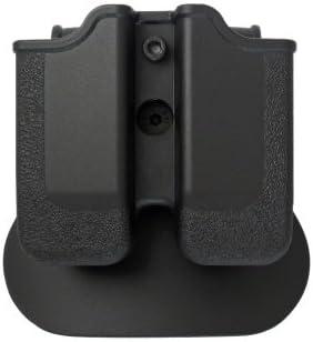 IMI Defense z2040doble cartuchera ajustable giratorio giro Double Magazine Polímero Pouch para Heckler y Koch H & K P30; H & K USP COMPACT (9/40), BERETTA PX49mm/.40, Ruger SR9, Steyr M Ser