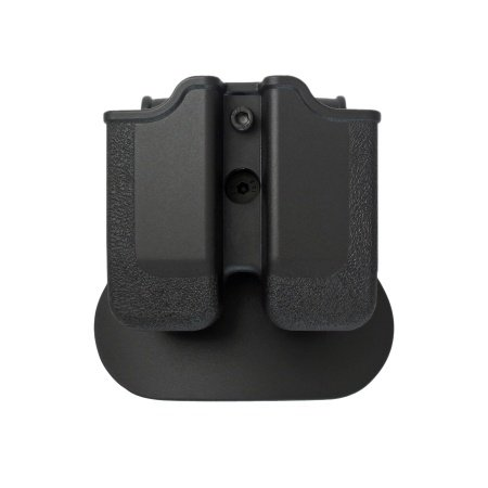 IMI Defense z2040doble cartuchera ajustable giratorio giro Double Magazine Polímero Pouch para Heckler y Koch H & K P30; H & K USP COMPACT (9/40), BERETTA PX49mm/.40, Ruger SR9, Steyr M Series, S & W Sigma, Taurus 24/7, CZ P de 09