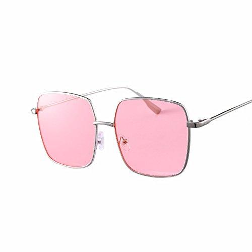 Rosa Phnom XIAOGEGE video sol gafas de marea retro big box estilo de delgadas hembra Penh Gafas Rosa cuadradas Gafas qzBnOwrUq