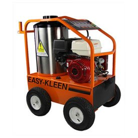 Easy-Kleen EZO4035G-H-GP-12 Commercial Hot Water Gas-Oil Fired Pressure Washer, 3.5 GPM, 4000 psi, 13 hp Honda, Direct Drive, Electric Start, Orange