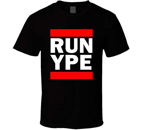 SHAMBLES TEES Run YPE Alberta Canada Peace River Funny Graphic Patriotic Parody Black T Shirt L Black (Peace River Canada)