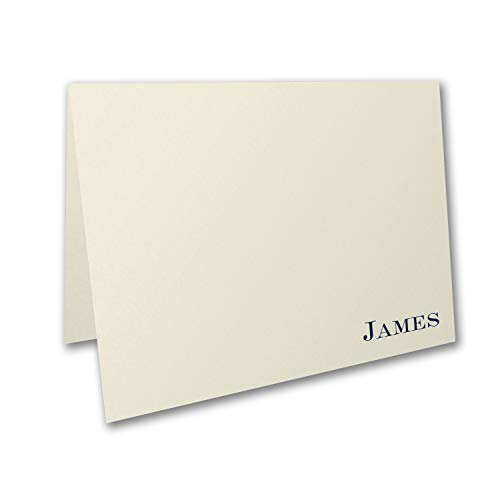 250pk Ecru - Note Card and Envelope-Personal Stationery