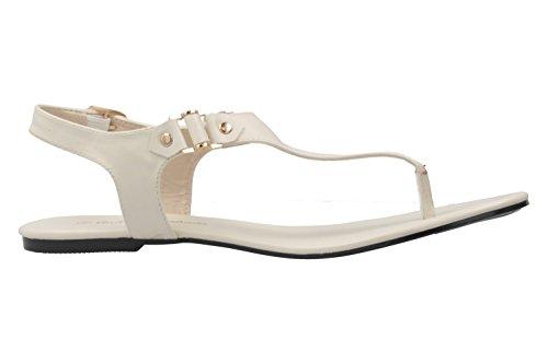 Andres Schuhe in Zehentrenner Weiß Übergrößen Damen Machado zwpBrz