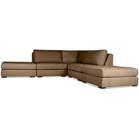 South Cone Home AL3 BROWN Yorkshire Modular Sectional Brown