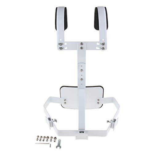 D DOLITY Metal Marching Snare Drum Carrier Rack Shoulder Pad Cushion Percussion Instrument Parts, White