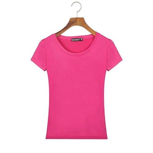 Hot Dog Costume Ebay (Women clothes,CieKen wear very comfortabie Fashion Women Slim Fit Fell-dressed Cotton Crew Neck Short Elegant Sleeve Casual T-Shirt Tops So Cool New Fashion (M, Hot pink))
