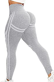 INSTINNCT Womens Yoga Pants Seamless High Waist Butt Push up Tummy Control Gym Sport Workout Leggings