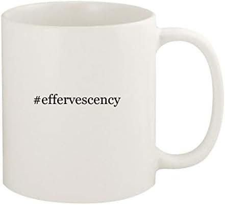#effervescency - 11oz Hashtag Ceramic White Coffee Mug Cup, White