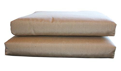 BHG PU2018B1008 Sunbrella Designer Seat Cushions-Knife Edge (2 Pack), Canvas Heather Beige