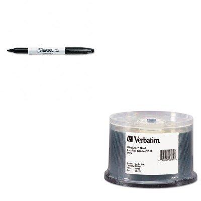 KITSAN30001VER96159 - Value Kit - Verbatim CD-R Archival Grade Disc (VER96159) and Sharpie Permanent Marker (SAN30001)