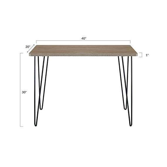 Poly and Bark Ralston Writing Desk - Standard Height - in Ash Grey - Versatile and Modern Writing Desk Standard Height Desk at 29.75 inches in Height Durable Fiberboard with Melamine veneer - writing-desks, living-room-furniture, living-room - 31OCSLR3H5L. SS570  -
