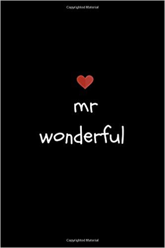 Mr Wonderful Journal Notebook Anniversary Valentines Birthday Gifts Presents For MenBoyfriendHusband Celebrate 6th Year 7th 8th