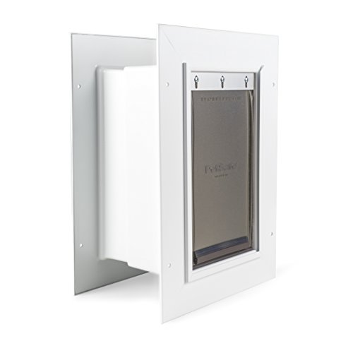 PetSafe Wall Entry Pet Door with Telescoping Tunnel, Small, White, Made in the (Radio Systems Wall Entry)