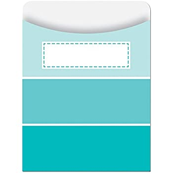 Creative Teaching Press Library Pockets, Turquoise Paint Chip (6787)