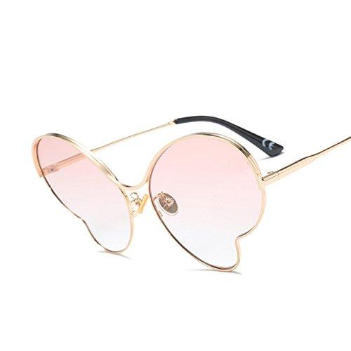 Gafas Butterfly C4 Pink TIANLIANG04 Señoras De C3 Oro Gafas Mujer Sombras Enormes Unas Gafas Sol Gold Uv G411 Grandes Sol Mariposas De Bastidor Azul De De De De Aleación BqFBH7wf