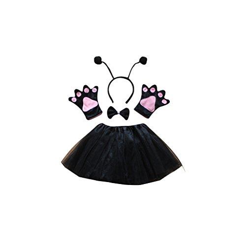 Ant Costumes - Childrens 5pcs Net Yarn Puff Skirt Cartoon Animal Cosplay Costume