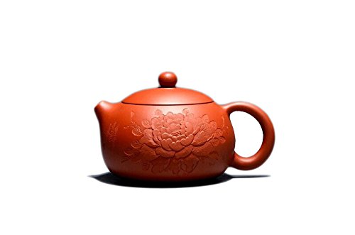 Chinese Yixing Handmade Pure Clay Zisha Teapot Xishi Hu High-quality Zhu Ni Tea Pot 180cc Peony Pattern