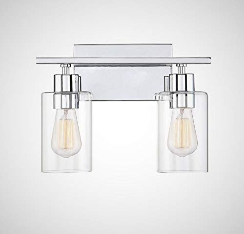 Savoy House 8-2149-2-11 Lambert 2-Light Bathroom Vanity Light in Polished Chrome with Clear Glass (14