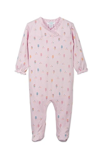 lothes Pima Cotton Long Sleeve Crossover Ruffle Footie Sleep 'N Play Coverall Romper ()
