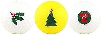 Christmas w/ Holly, Tree & Wreath Golf Ball Gift Set