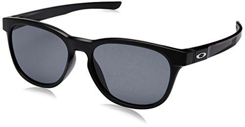 Oakley Men's Stringer Rectangular Sunglasses, Matte Black, 55 ()