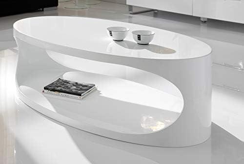 M-030 Mesa Baja Oval Blanco Lacado Design Oxy: Amazon.es: Hogar